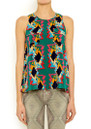 American Retro Claudia Top - Print