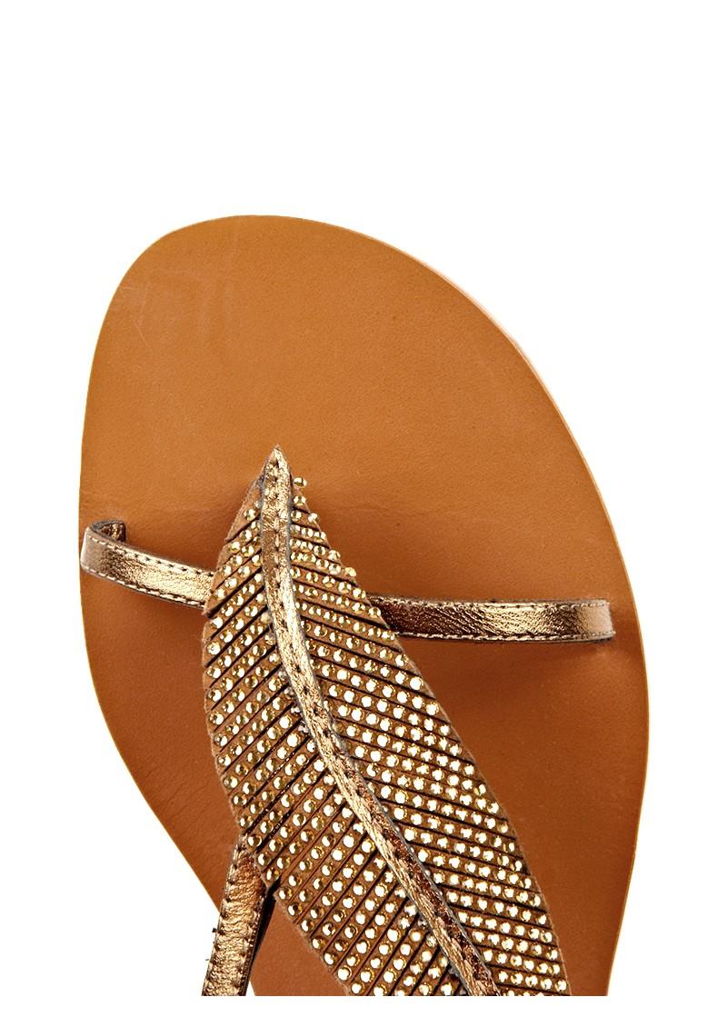 Lola Cruz Feature Stack Heels Sandals - Bronze main image
