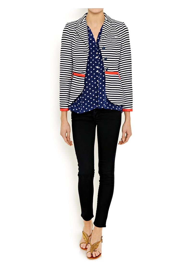 Mercy Delta Miki Polka Dot Shirt - Navy main image