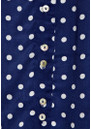 Mercy Delta Miki Polka Dot Shirt - Navy