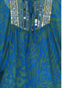Hale Bob Zebra Silk Beaded Print Tunic - Blue