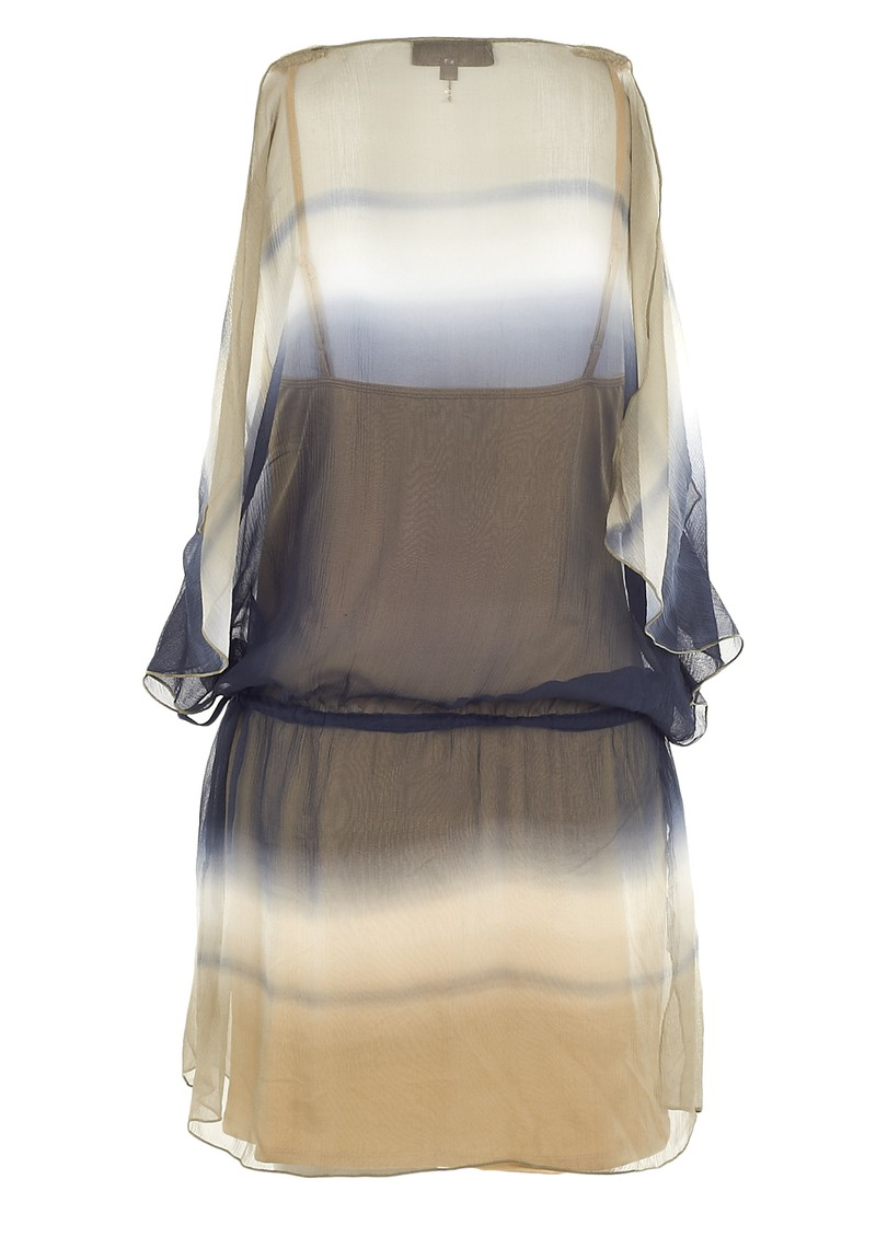 Hale Bob Cabanna Beige Sun-Kissed Fabulous Tie Dye Silk Dress - Beige main image