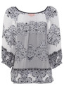 Hale Bob Cabanna Nighttime Heat Burnout Tunic - Black & White