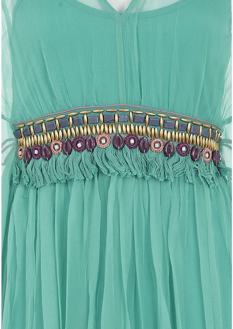 Blank Loriz Kaftan - Turquoise  main image