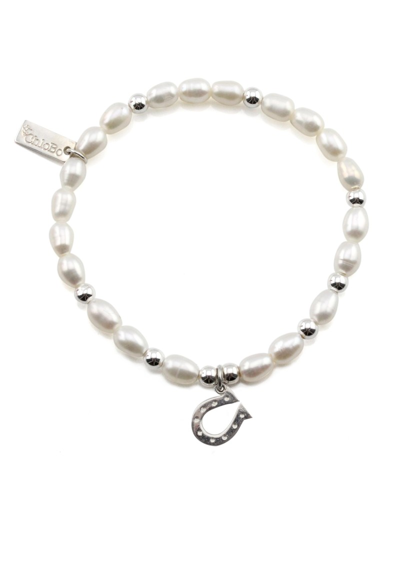 ChloBo Mini Pearl Bracelet with Horseshoe Charm - Pearl main image