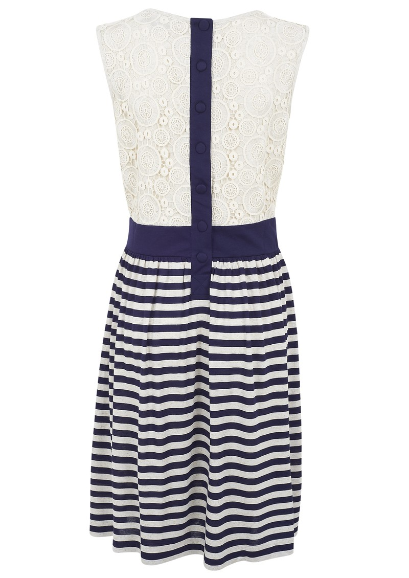 Great Plains Liliana Stripe Jersey Dress - Sea & Natural  main image
