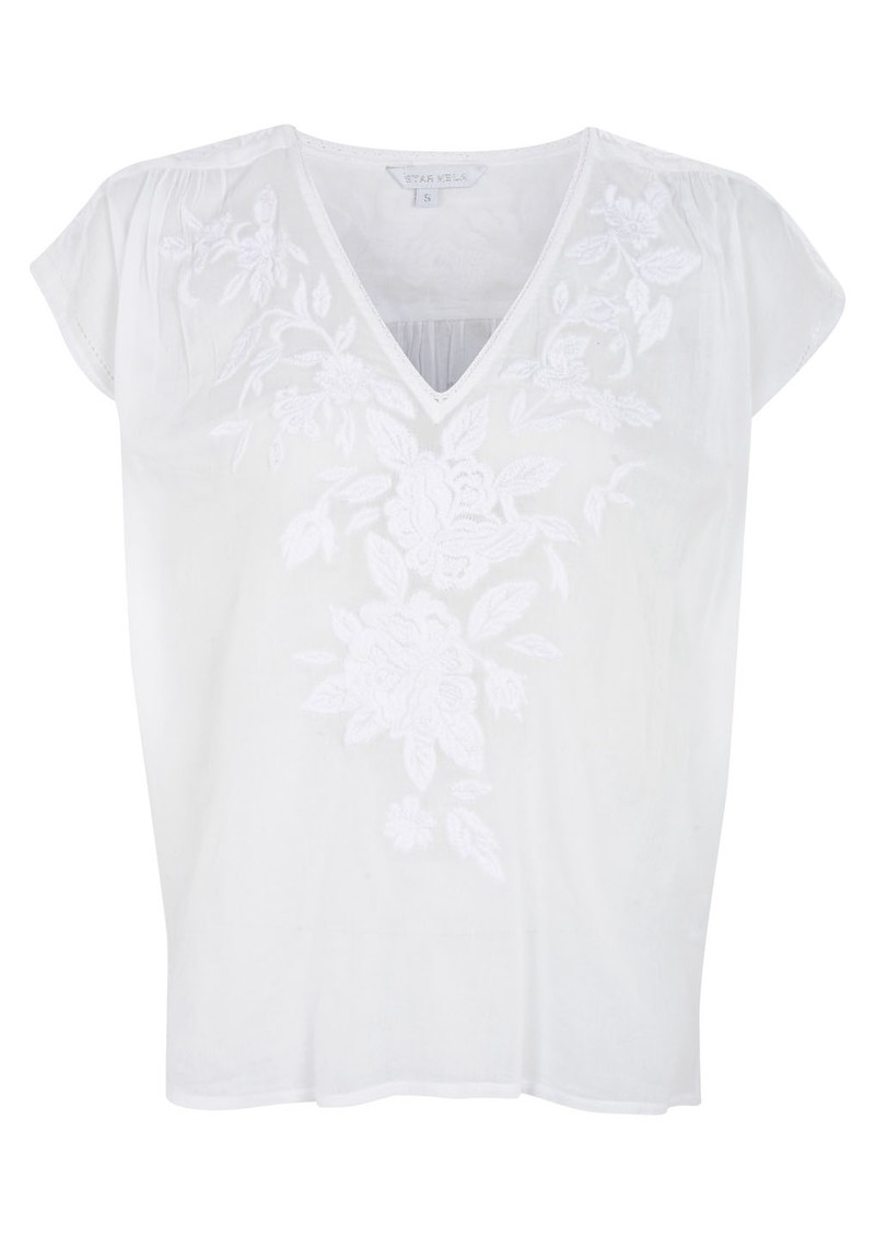 Star Mela Lotta Embellished Top - White main image