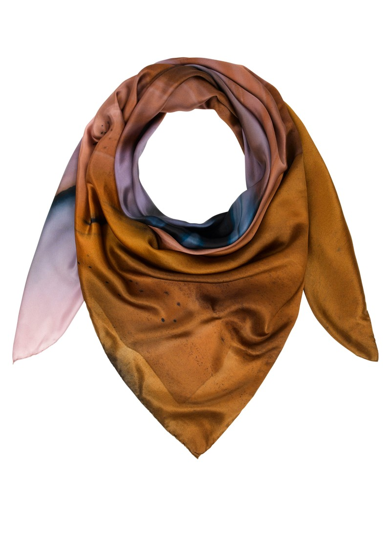 Weston Scarves Agate Silk Scarf - Tan main image
