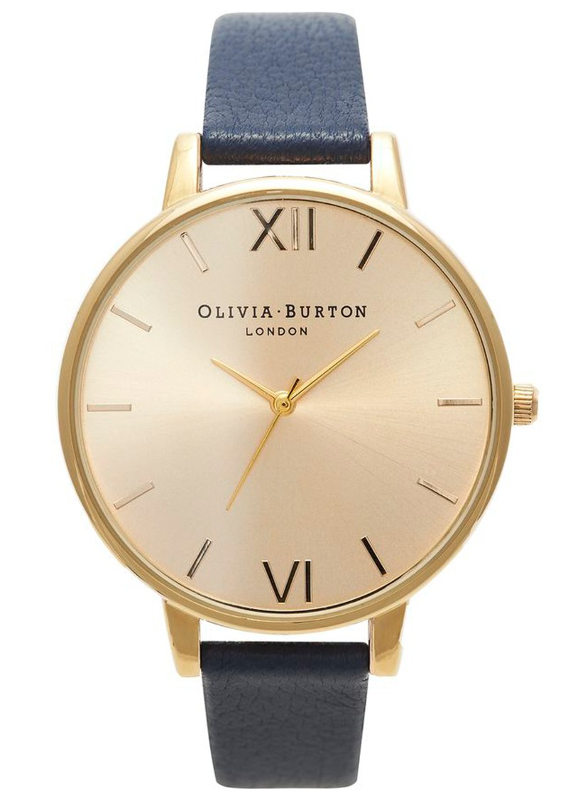 Olivia Burton Big Dial Watch - Gold & Navy main image
