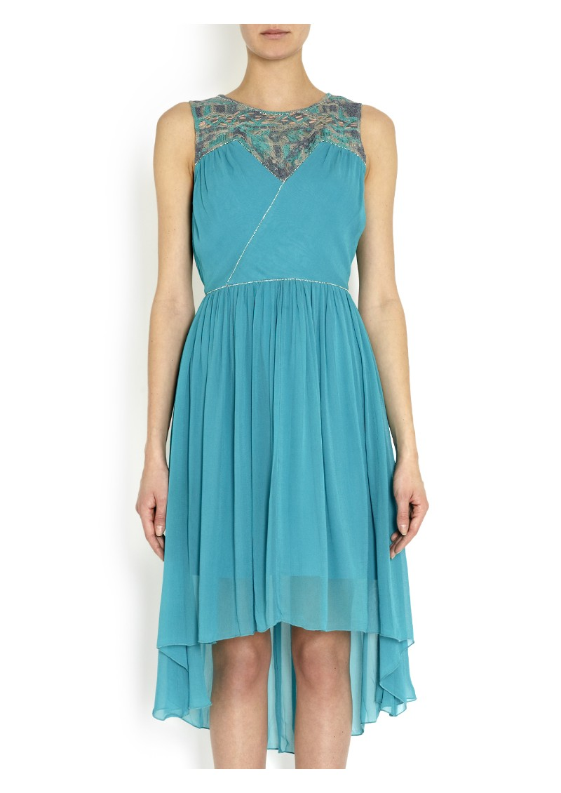 Blank Janet Embroidery Dress - Turquoise   main image