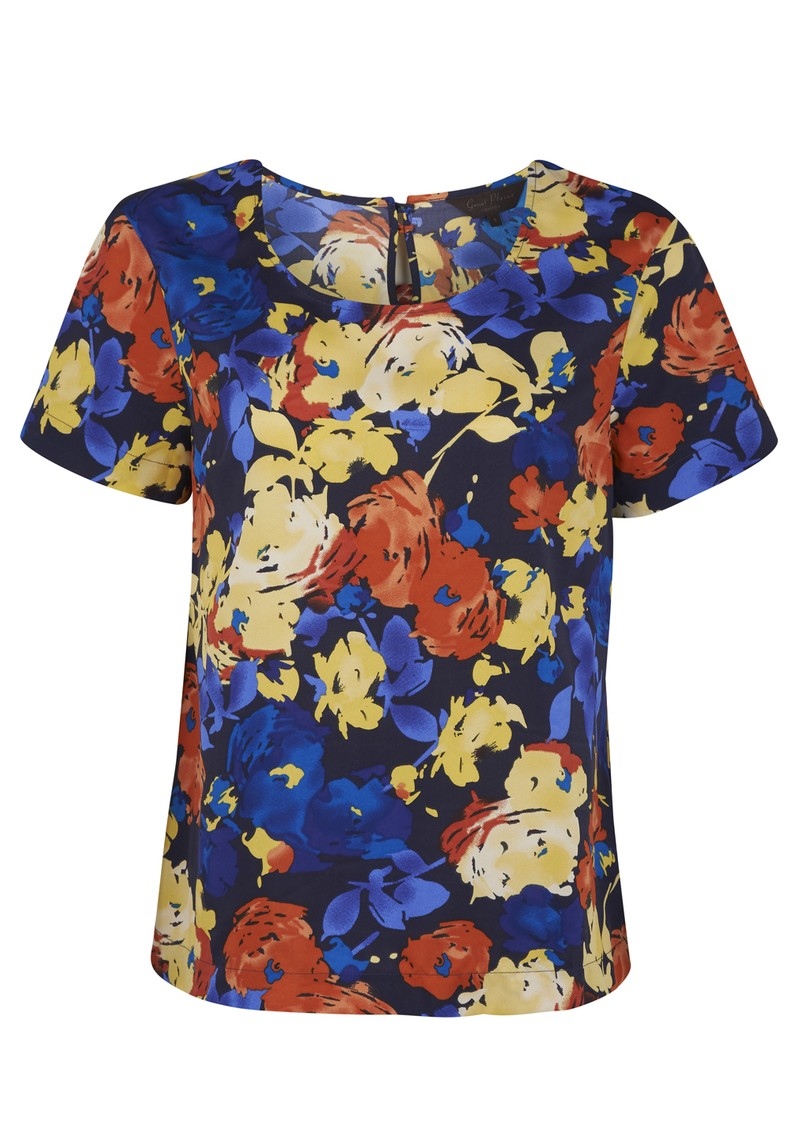 Great Plains Artists Roses Floral Top - Damsel  main image