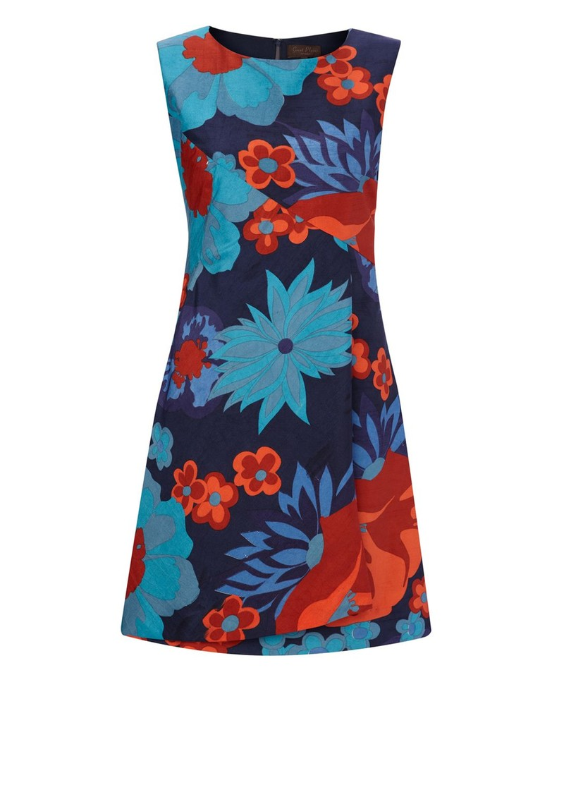 Great Plains Puglia Flower Print Dress - Arabian Sea main image