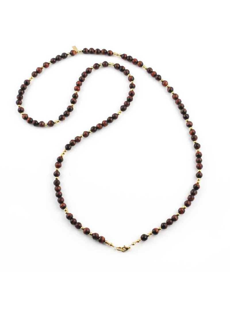 ChloBo Cloud 9 Red Tigers Eye Necklace - Red & Gold main image