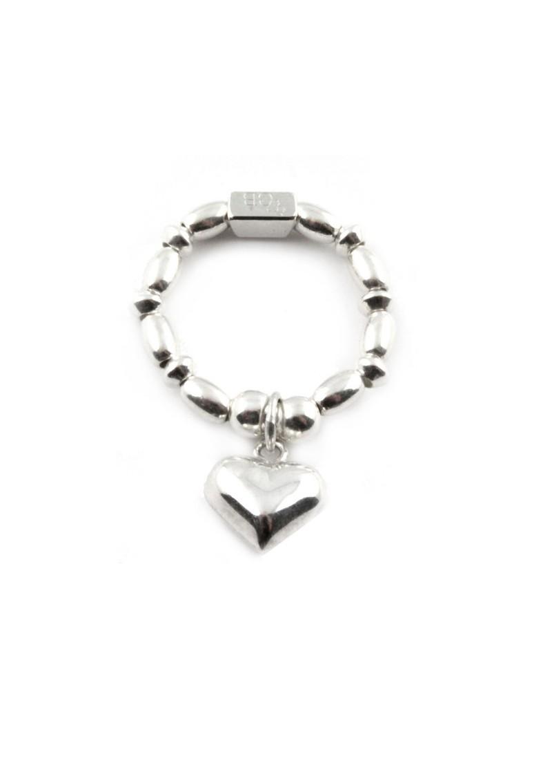 ChloBo Rice & Disc Ring With Heart Charm main image