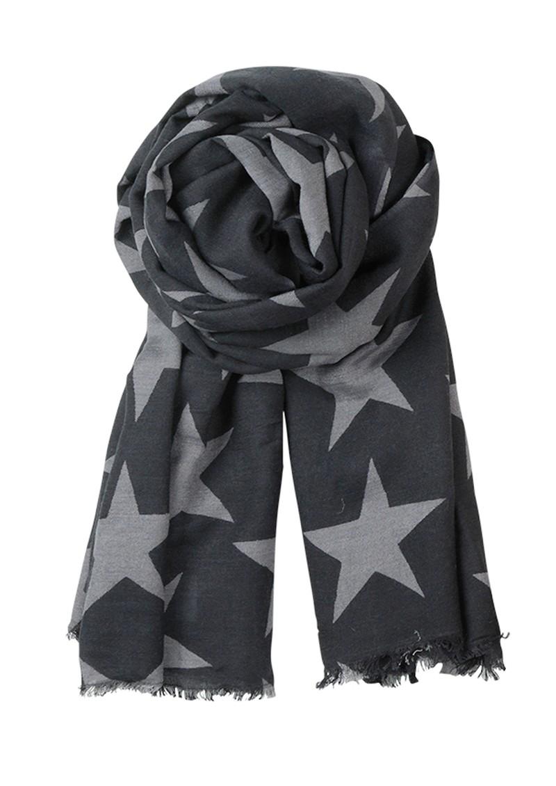 Becksondergaard E Supersize Nova Star Wool & Silk Blend Scarf - Black main image