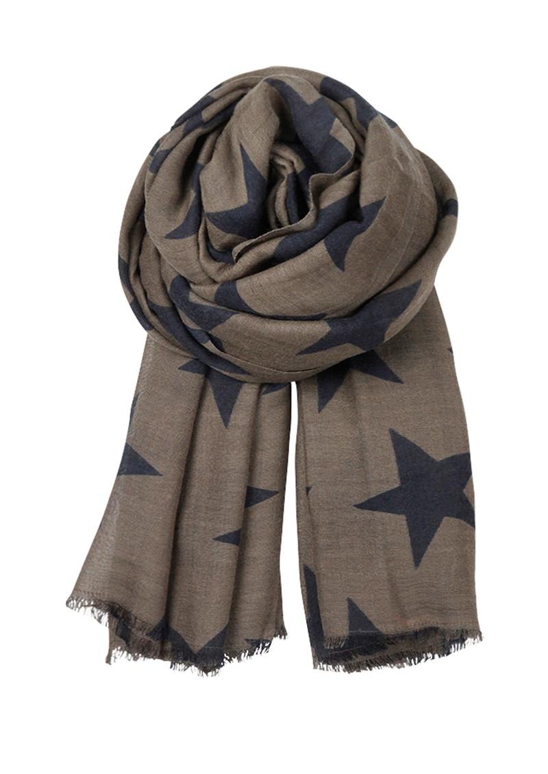 Becksondergaard E Supersize Nova Star Wool & Silk Blend Scarf - Chocolate Chip main image