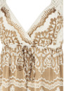 Hale Bob Long Silk Lace Maxi Dress - Ivory