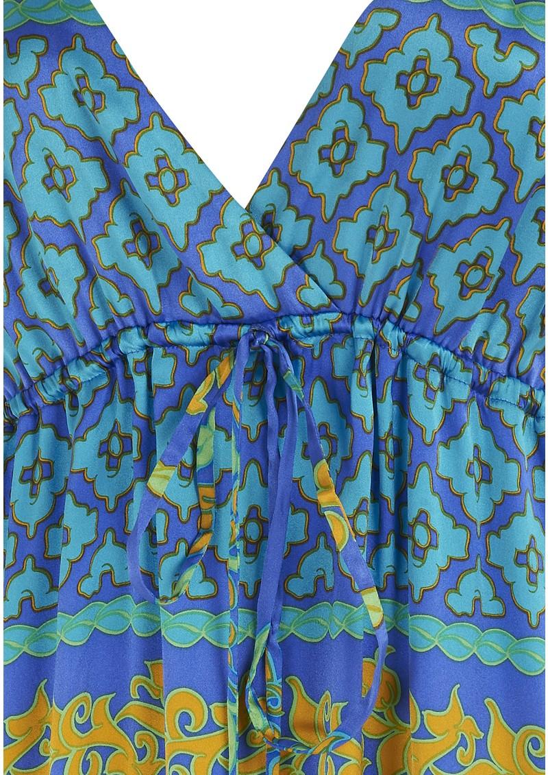 Hale Bob Long Silk Lace Maxi Dress - Blue main image