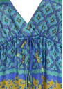Hale Bob Long Silk Lace Maxi Dress - Blue