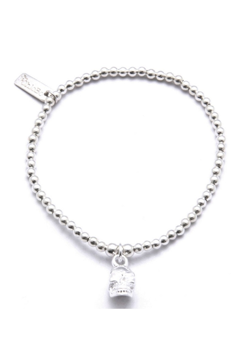 ChloBo Cute Charm Bracelet with Skull - Silver main image