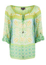 Retro Print Kaftan - Lime additional image