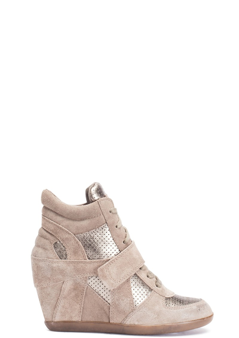 Ash Bowie Calf Suede Wedge Trainer in