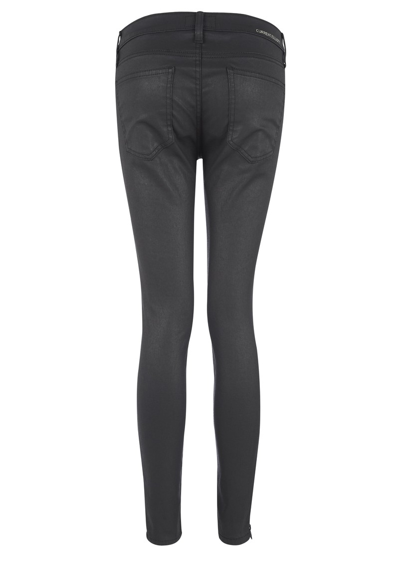 Current/Elliott The Soho Zip Stiletto Jeans - Coated Black main image