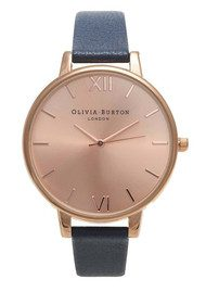 Olivia Burton Big Dial Watch - Rose Gold & Navy