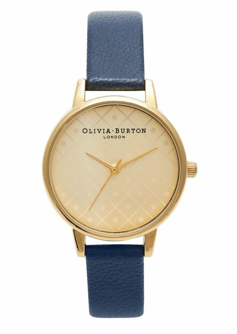 Olivia Burton Modern Vintage Watch - Gold & Navy main image