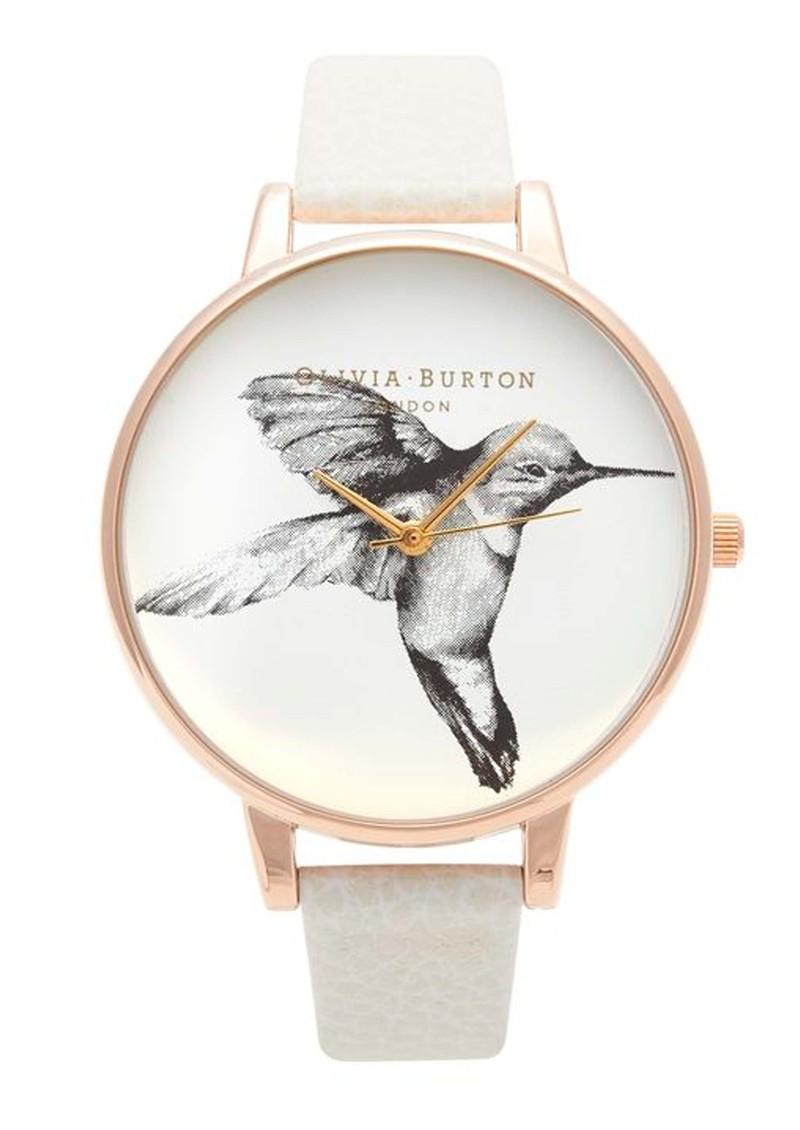 Olivia Burton Hummingbird Motif Watch - Rose Gold & Mink main image