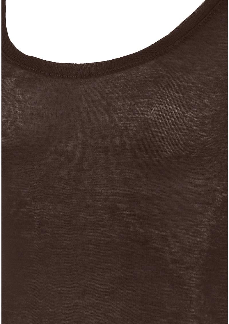 American Vintage Massachusetts Long Sleeve Tee - Chocolate  main image