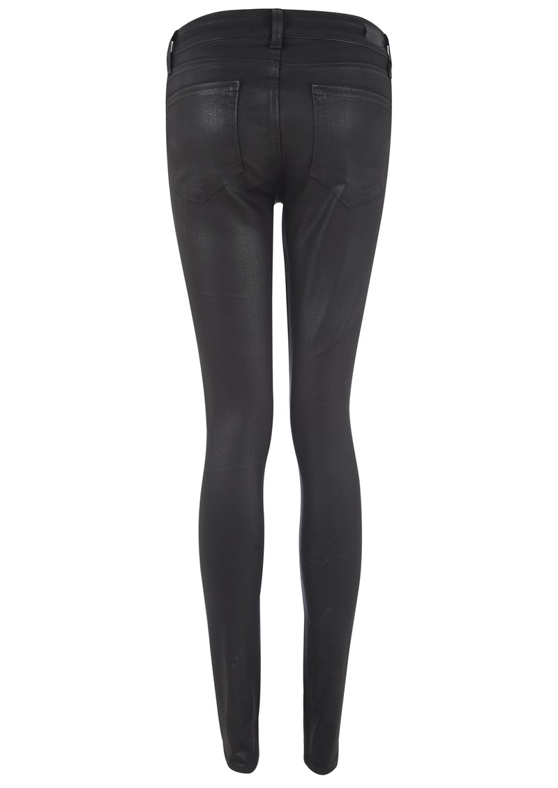 PAIGE DENIM Edgemont Ultra Skinny Jeans - Black Silk main image