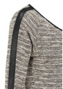Maison Scotch Boucle Leather Trim Sweat  - Stone