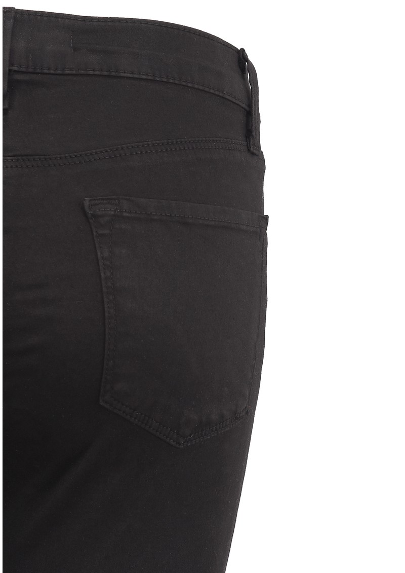 J Brand Maria High Rise Luxe Satin Skinny Jean - Black main image