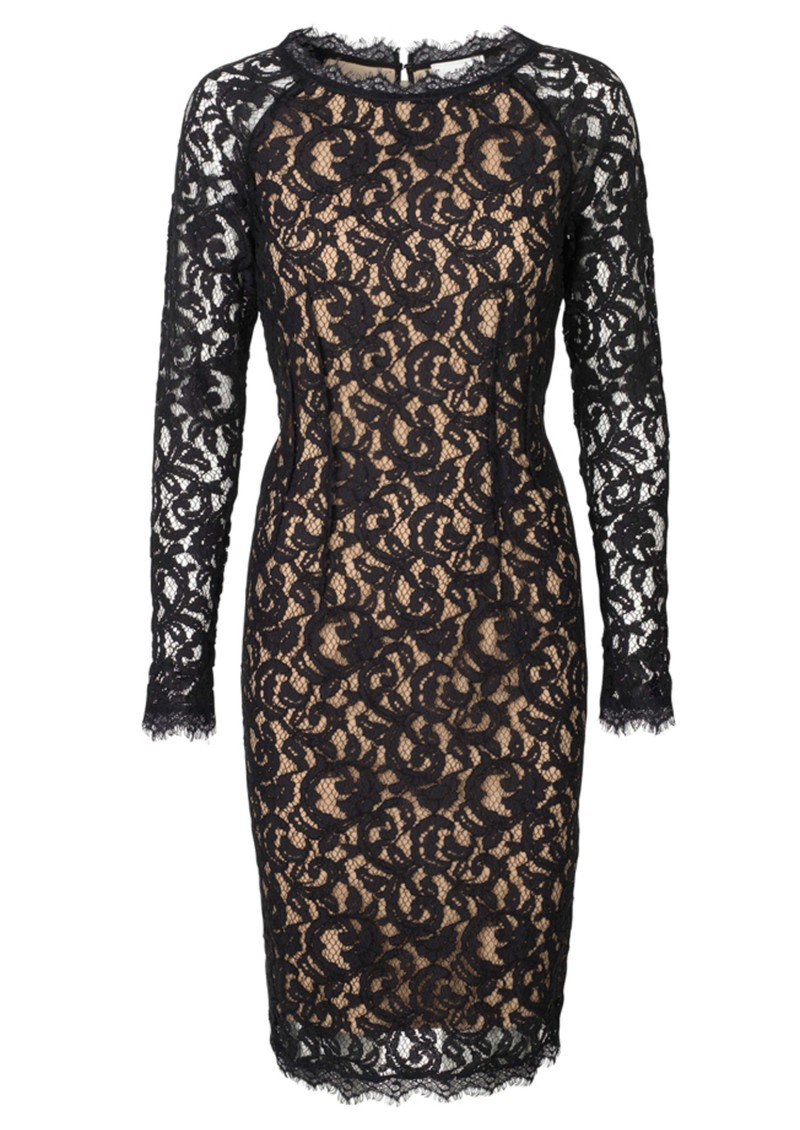 Gentle Lace Dress - Pirate Black main image