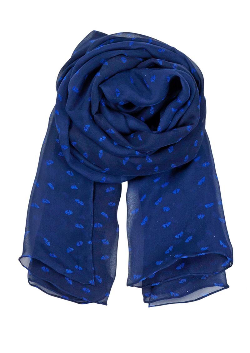 Becksondergaard E Flower Range Silk Scarf - Rich Blue main image