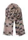 E Wooly Cat Scarf - Dark Green additional image