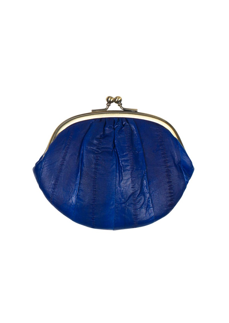 E Eel Skin Mini Granny Purse - Cobalt  main image