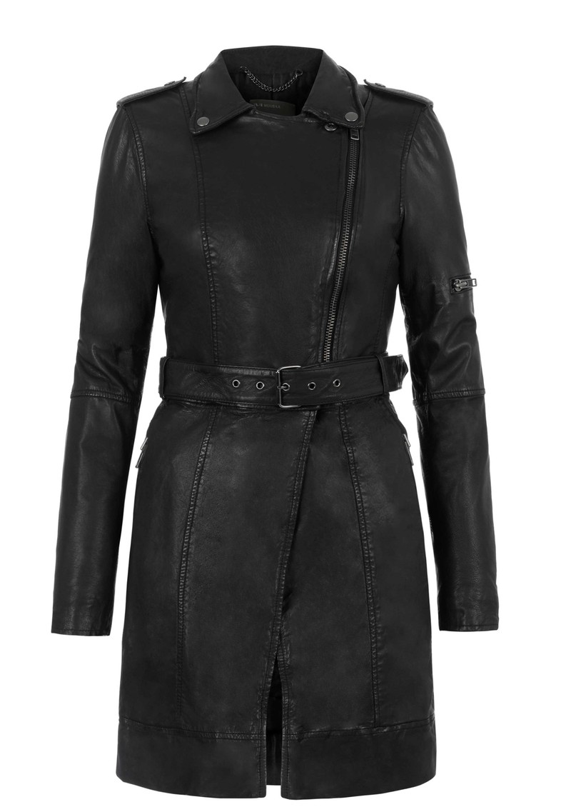 Muubaa Taras Long Leather Jacket - Black main image