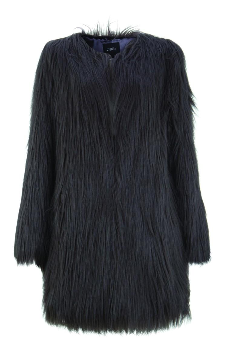 Unreal Fur Wonderlust Faux Fur Coat - Slate main image