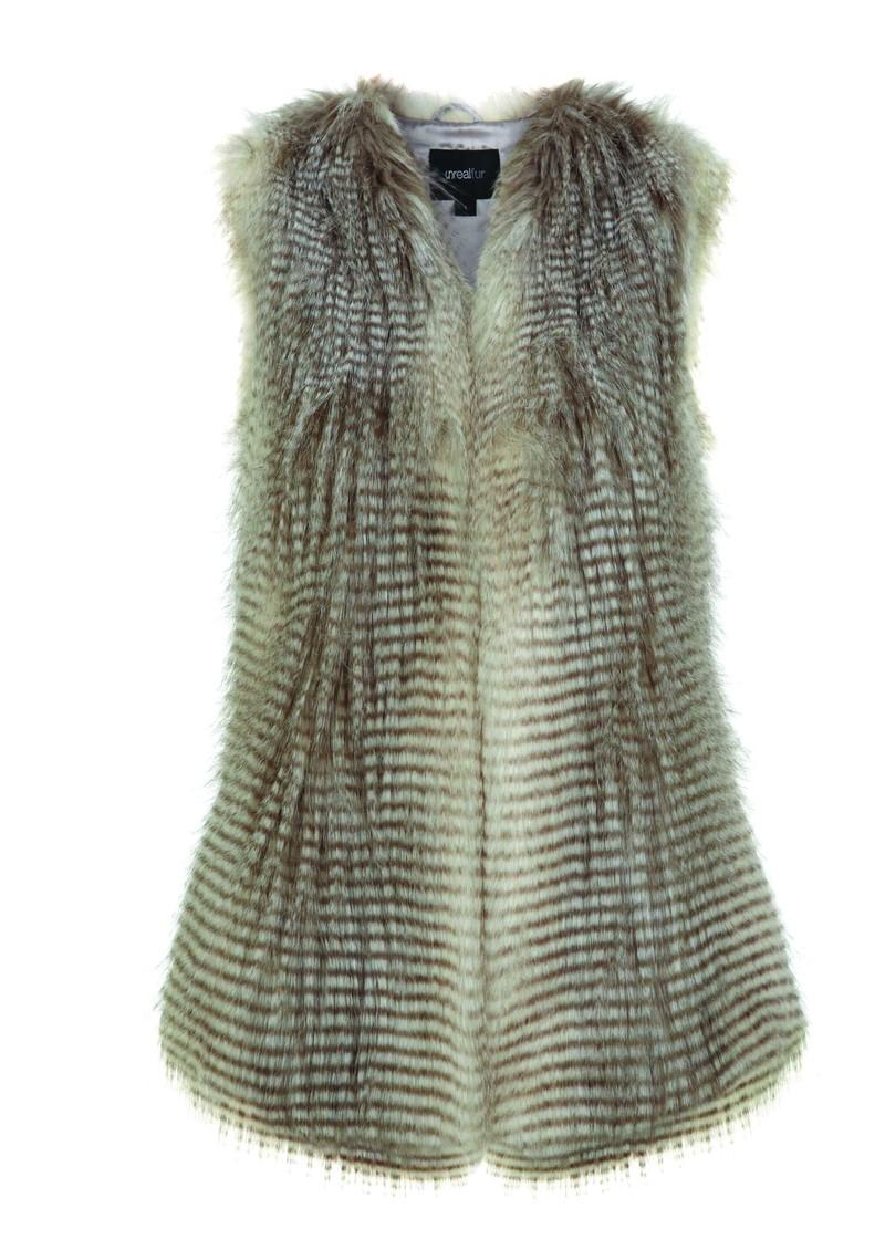 Unreal Fur I'll Take You Vest - Chocolate Raccoon  main image