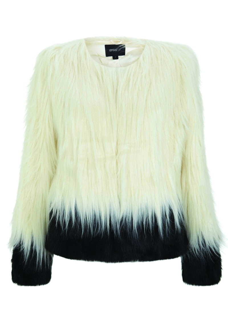 Unreal Fur Fire and Ice Faux Fur Jacket - Cream & Black main image