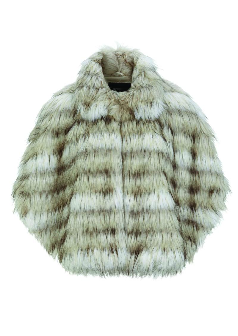 Unreal Fur Northern Aurora Faux Fur Cape - Cream main image