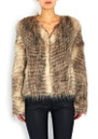Furry Floss Faux Fur Jacket - Chocolate Raccoon  additional image