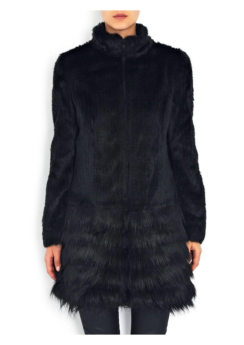 Unreal Fur The Raven Faux Fur Coat -  Black main image