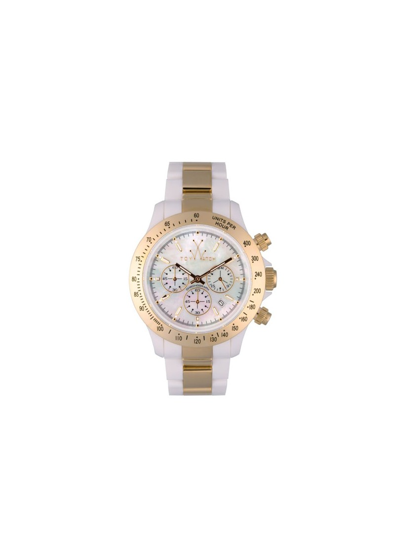 Toywatch Heavy Metal Chronograpgh - White and Gold main image