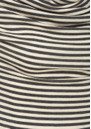 Mini Stripe Drape Tee - Charcoal  additional image