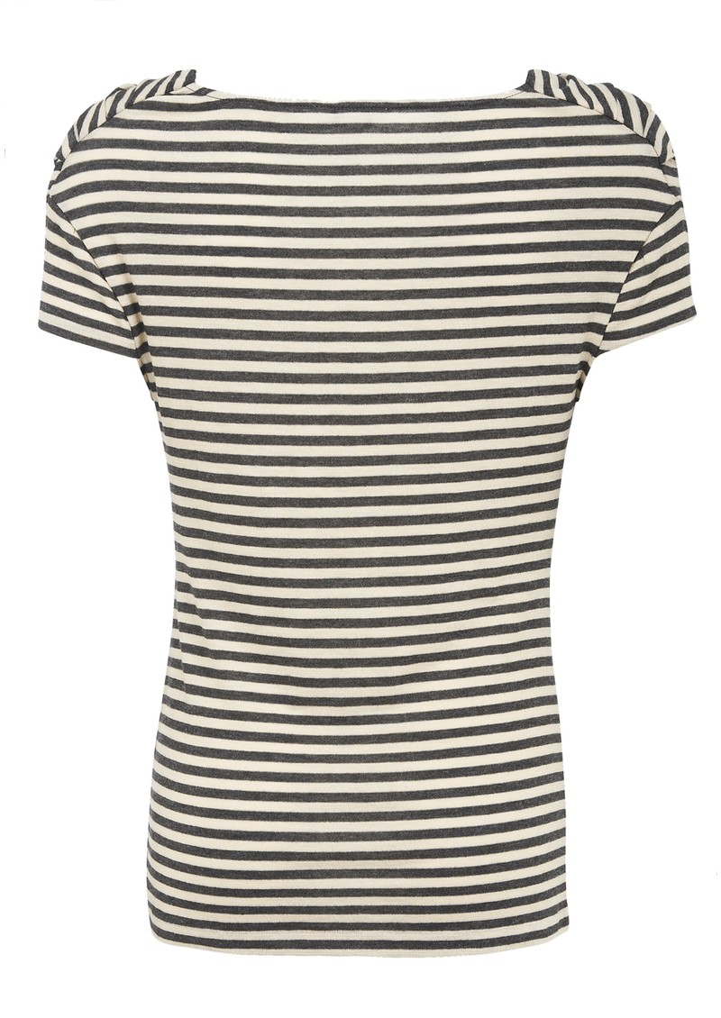 Farhi Mini Stripe Drape Tee - Charcoal  main image