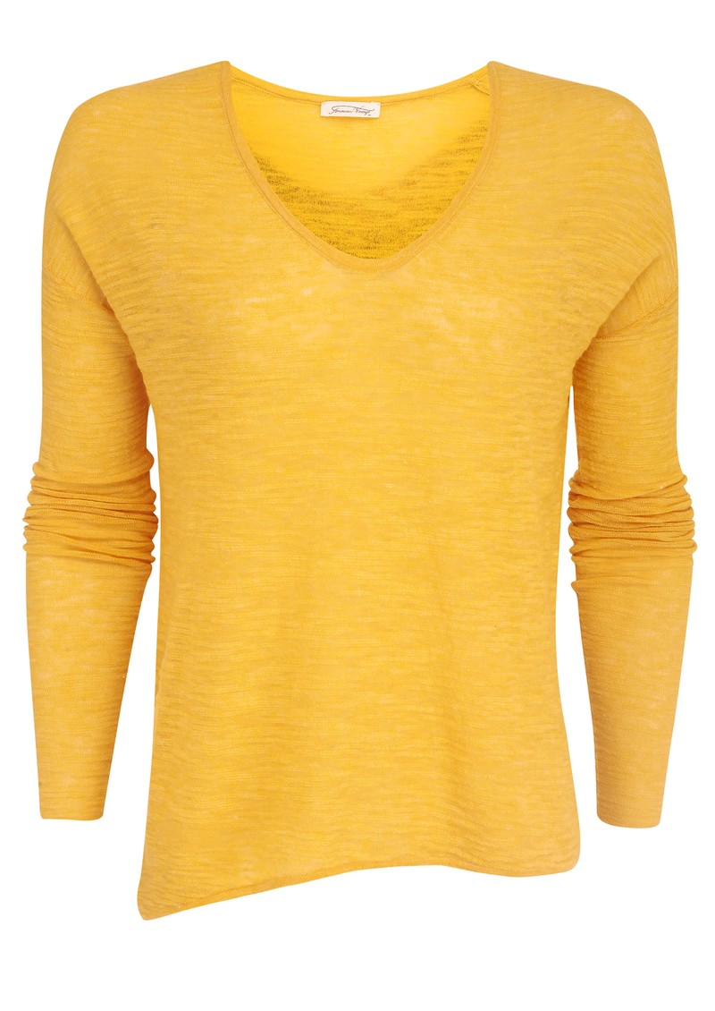 American Vintage Wapping V Neck Knit - Sunflower main image