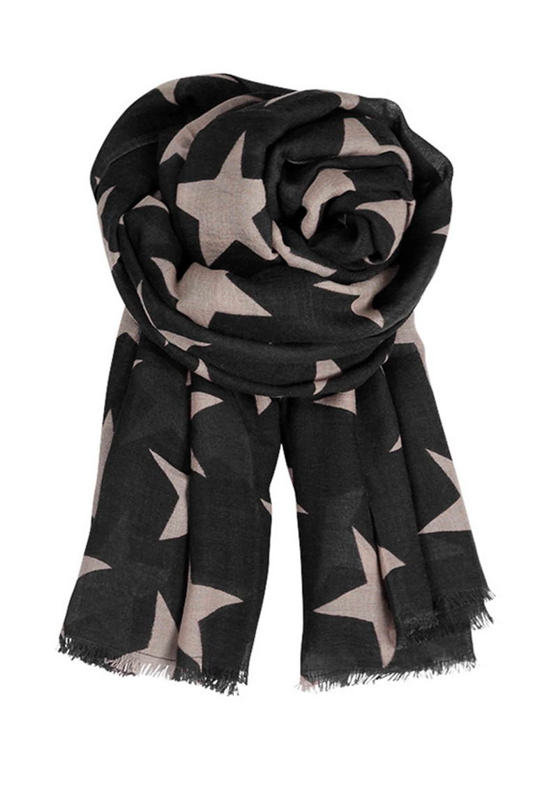 E Supersize Nova Star Wool & Silk Blend Scarf - Kyoto Beige main image